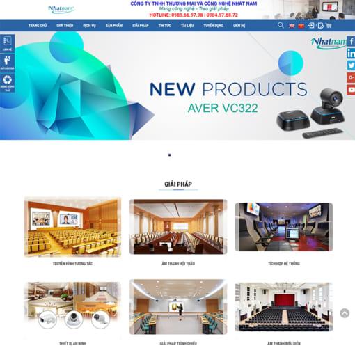Mẫu Website Thiết Bị Hội Nghị Truyền Hình MA-3083