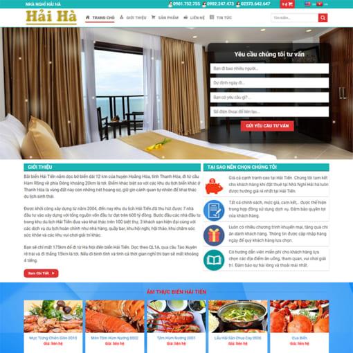 Mẫu Website Thuê Biệt Thự Nhà Nghỉ MA-3011