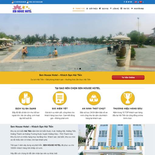 Mẫu Website Thuê Biệt Thự Nhà Nghỉ MA-3012