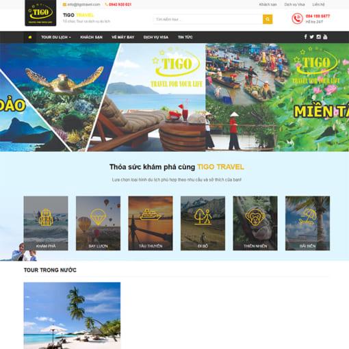 Mẫu Website Tổ Chức Tour Và Du Lịch MA-3088
