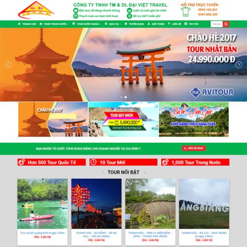 Mẫu Website Tour Du Lịch MA-3085