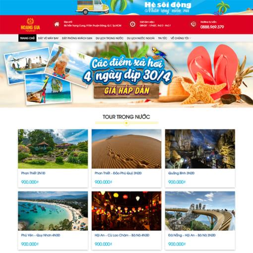 Mẫu Website Tour Du Lịch MA-3086