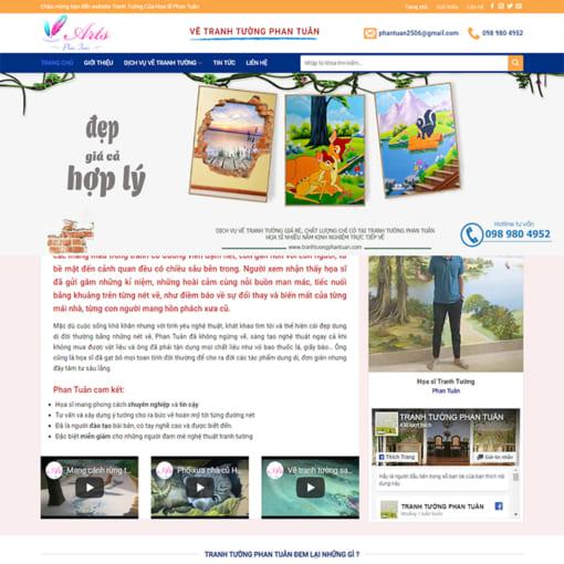 Mẫu Website Vẽ Tranh Tường MA-3094