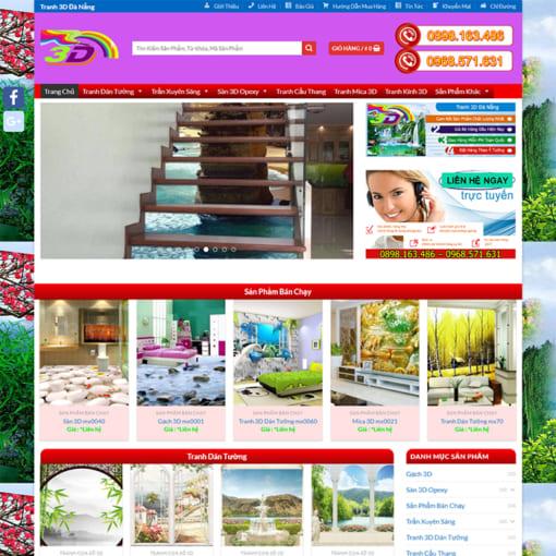 Mẫu Website Vẽ Tranh Tường MA-3097