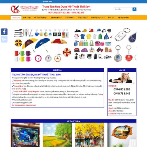 Mẫu Website Vẽ Tranh Tường MA-3098