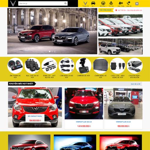 Mẫu Website Oto Vinfas MA-1182