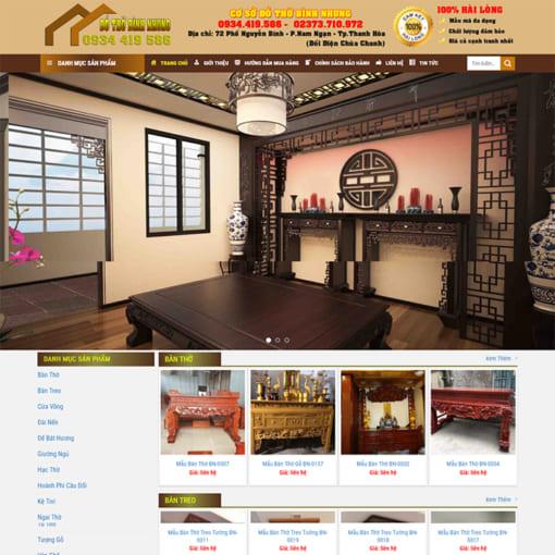 Mẫu Website Bán Nội Thất Gỗ MA-1149