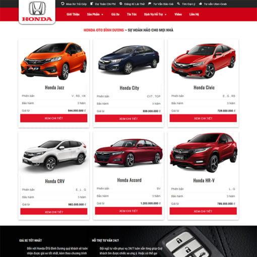 Mẫu Website Bán Ôtô MA-1152