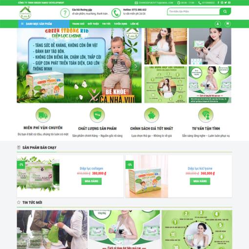 Mẫu Website Bán Thực Phẩm Chức Năng MA-3006