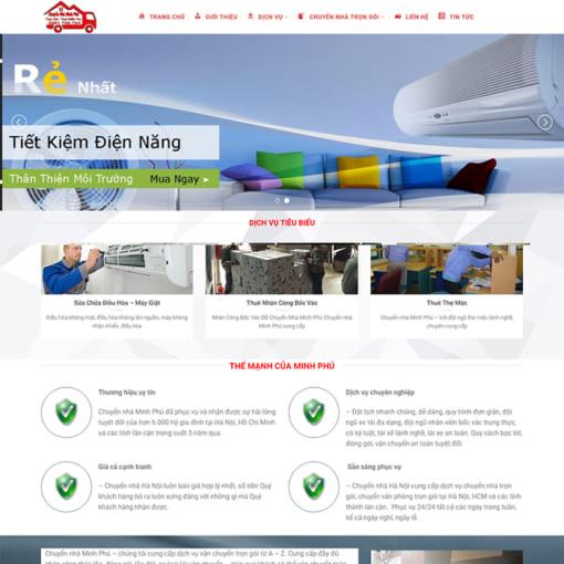 Mẫu Website Chuyển Nhà Trọn Gói MA-1176