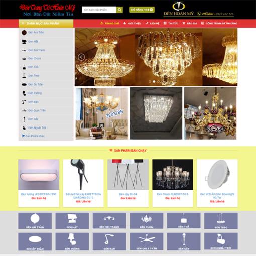 Mẫu Website Đèn Trang Trí Nội Thất MA-1172