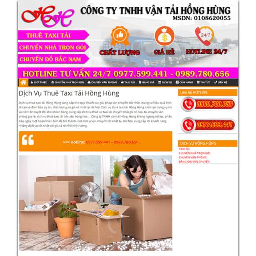 Mẫu Website Dịch Vụ Chuyển Nhà MA-1155