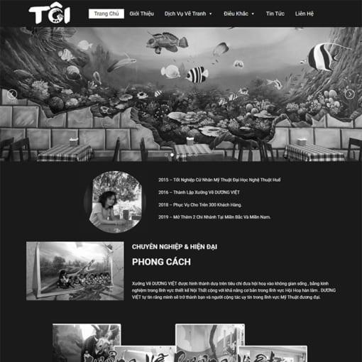 Mẫu Website Dịch Vụ Vẽ Tranh Tường MA-1171