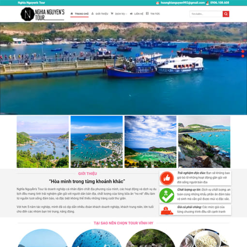 Mẫu Website Du Lịch MA-1165