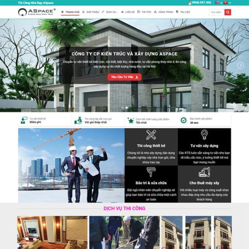 Mẫu Website Kiến Trúc Và Xây Dựng MA-1166