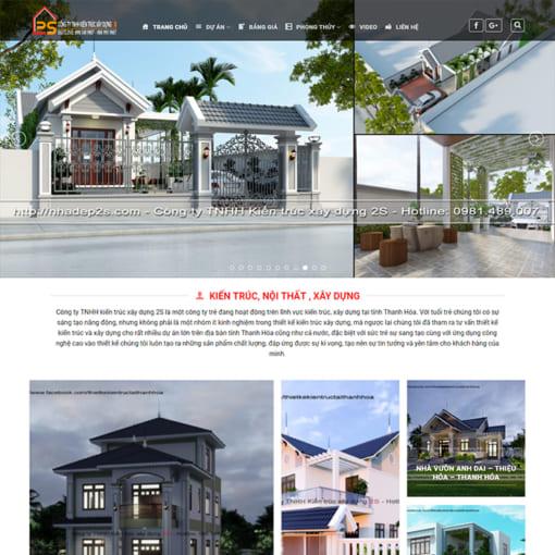 Mẫu Website Kiến Trúc Xây Dựng MA-1179