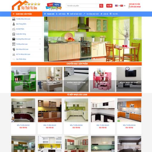 Mẫu Website Nội Thất Nhựa MA-1162