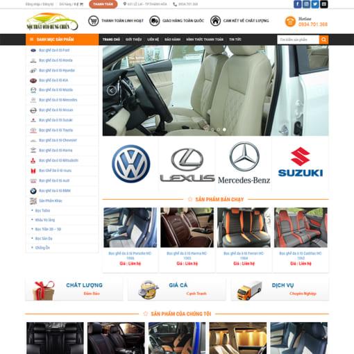 Mẫu Website Nội Thất Ôtô MA-1161