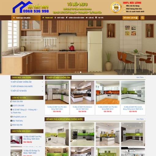 Mẫu Website Nội Thất Tủ Bếp-1170