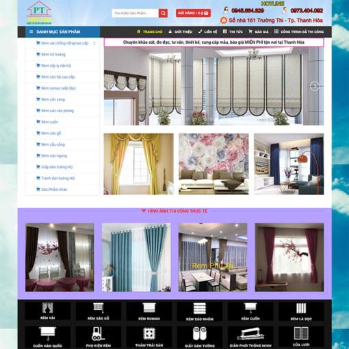 Mẫu Website Rèm Mành Đẹp MA-1177