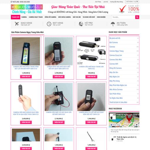 Mẫu Website Thiết Bị Camera MA-1160