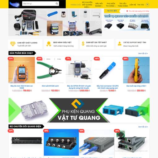 Mẫu Website Thiết Bị Cáp Quang MA-1167