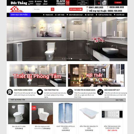Mẫu Website Thiết Bị Vệ Sinh MA-1180