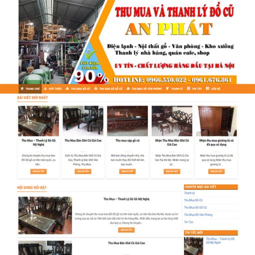 Mẫu Website Thu Mua Và Thanh Lý Đồ Cũ MA-1158