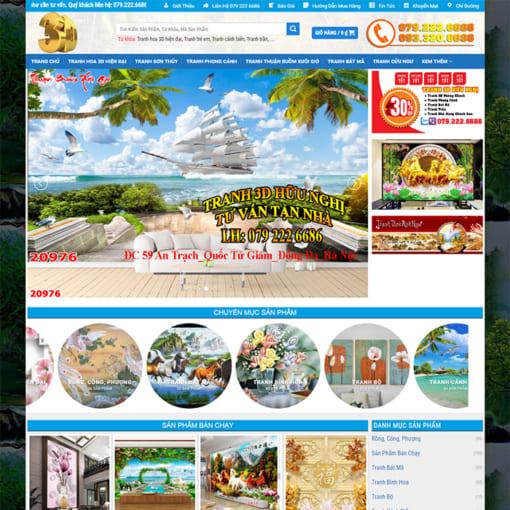 Mẫu Website Tranh Nghệ Thuật 3D MA-1153
