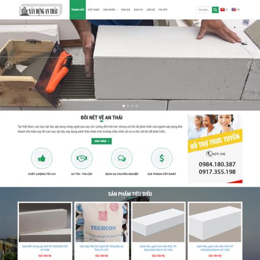 Mẫu Website Vật Liệu Xây Dựng MA-3008