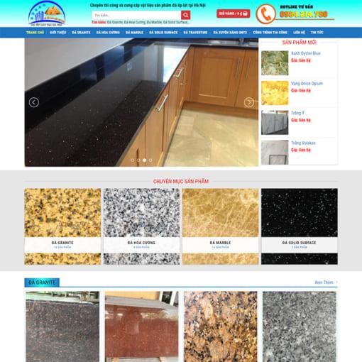 Mẫu Website Vật Liệu Xây Dựng MA-3009