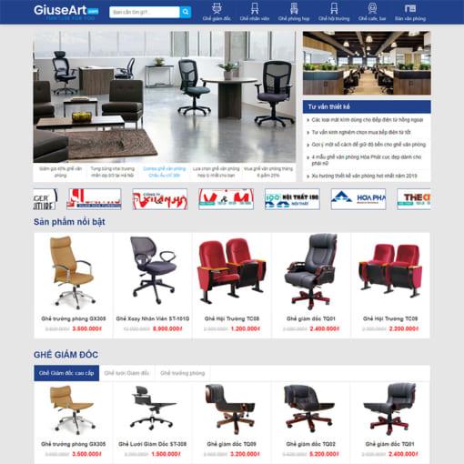 Mẫu Website Bán Nội Thất MA-1209