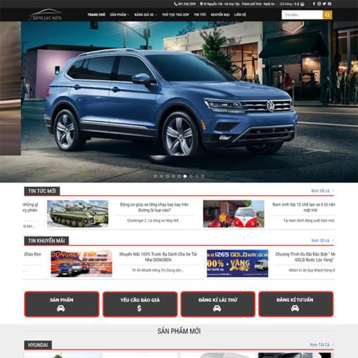 Mẫu Website Bán ÔTô MA-1197