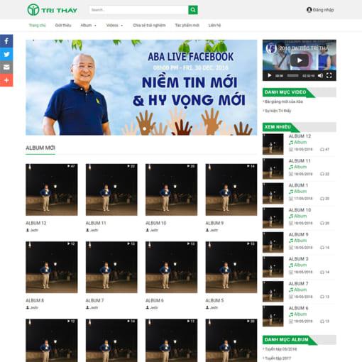 Mẫu Website Blog Cá Nhân MA-1204