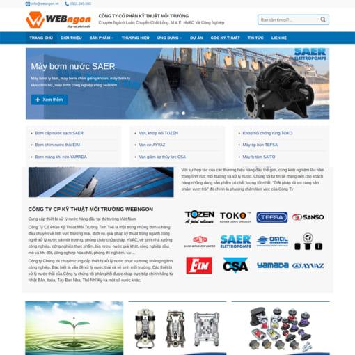 Mẫu Website Giới Thiệu Công Ty MA-1201
