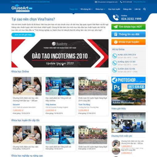 Mẫu Website Khóa Học Online MA-1210