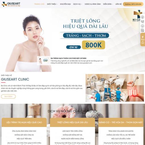 Mẫu Website Làm Đẹp MA-1207