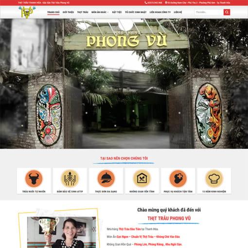 Mẫu Website Nhà Hàng MA-1194