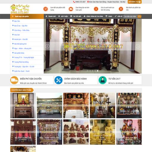 Mẫu Website Sản Xuất Đồ Thờ MA-1190