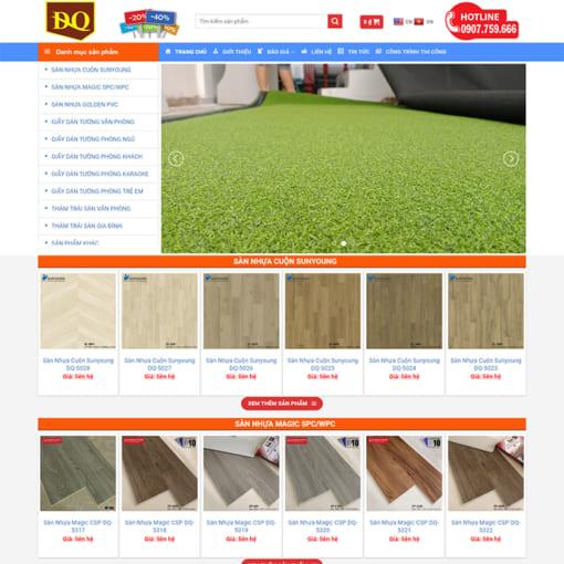 Mẫu Website Thi Công Nội Thất MA-1192