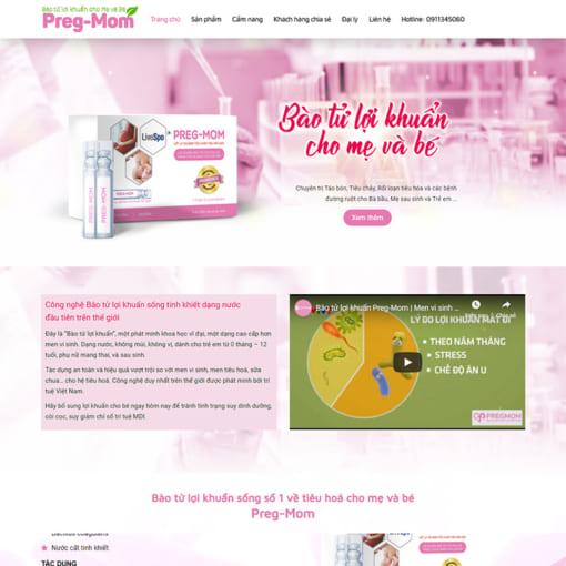 Mẫu Website Thực Phẩm Chức Năng MA-1199