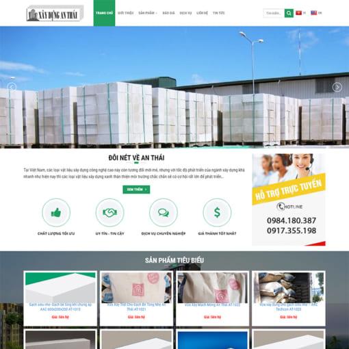 Mẫu Website Vật Liệu Xây Dựng MA-1198