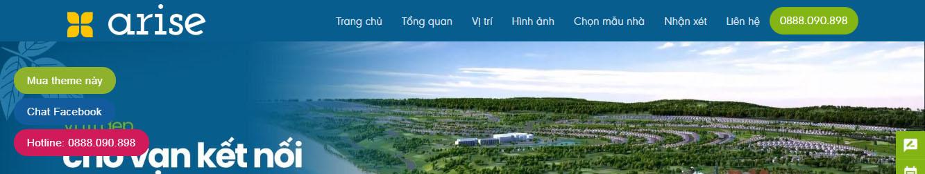 Arise Resort – Landing page Bất động sản Arise Resort Phan Thiết