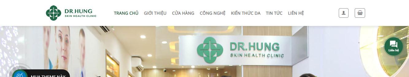Bác sỹ Hùng – Theme WordPress giới thiệu trung tâm chăm sóc da