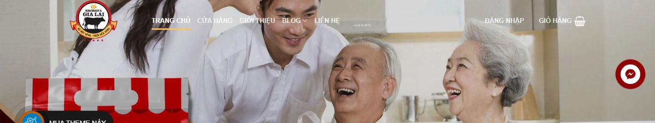 Bò Một Nắng Krông Pa – Theme WordPress bán đặc sản bò một nắng
