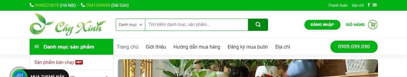Chậu Cây 2 – Theme WordPress bán cây xanh, chậu cây