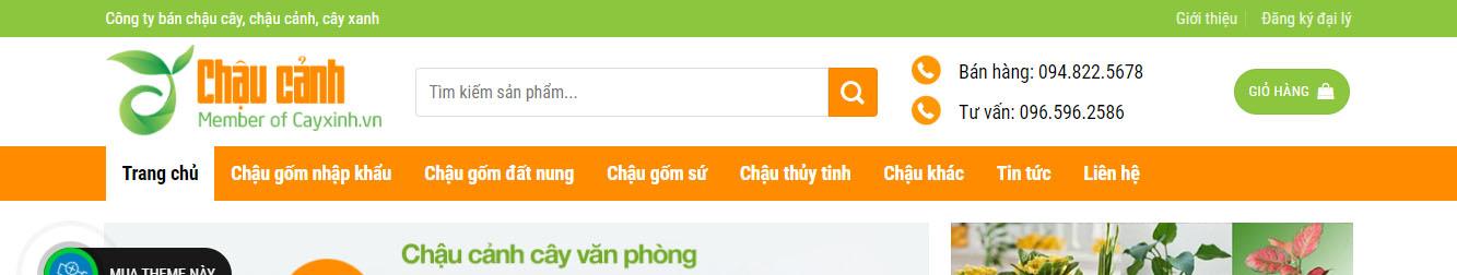 ChauCay – Theme WordPress bán chậu cây, cây cảnh