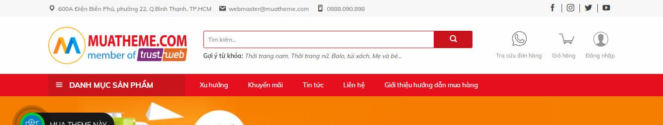 DXT Shop Store – Theme WordPress thương mại điện tử