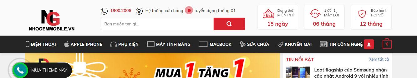 Di Động Việt – Hệ thống bán lẻ Điện Thoại, Macbook, Phụ kiện chính hãng