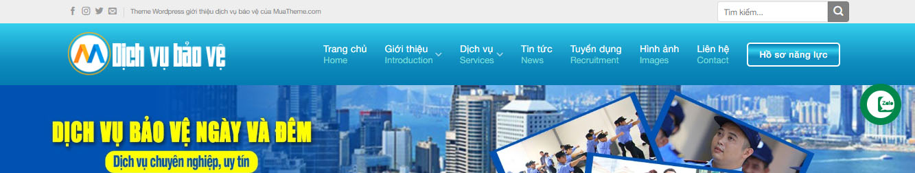 DichVuBaoVe – Theme WordPress dịch vụ bảo vệ